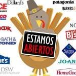tiendas que estarán abiertas en thankgiving