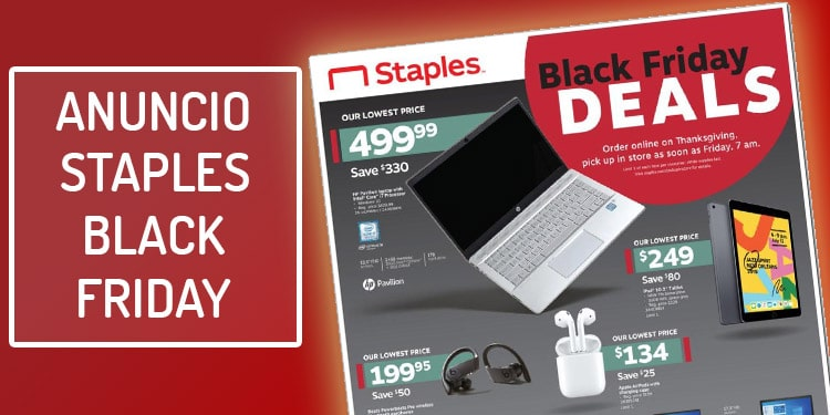 folleto anuncio staples black friday ofertas