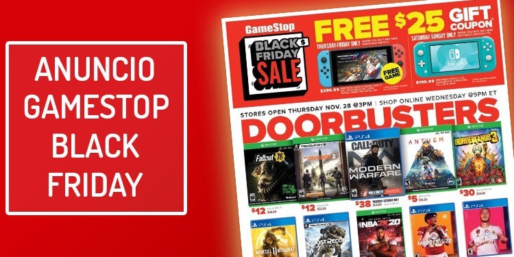 folleto gamestop black friday viernes negro anuncio