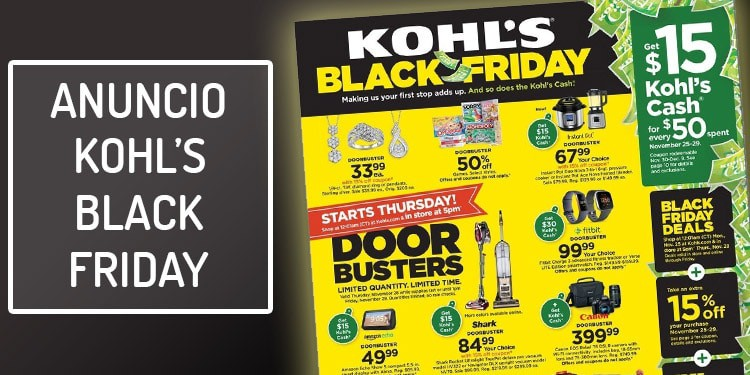 folleto kohls black friday ofertas