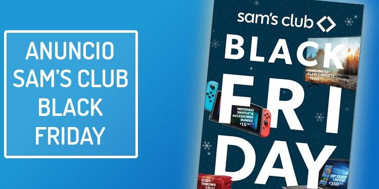 sams club viernes negro anuncio folleto ofertas